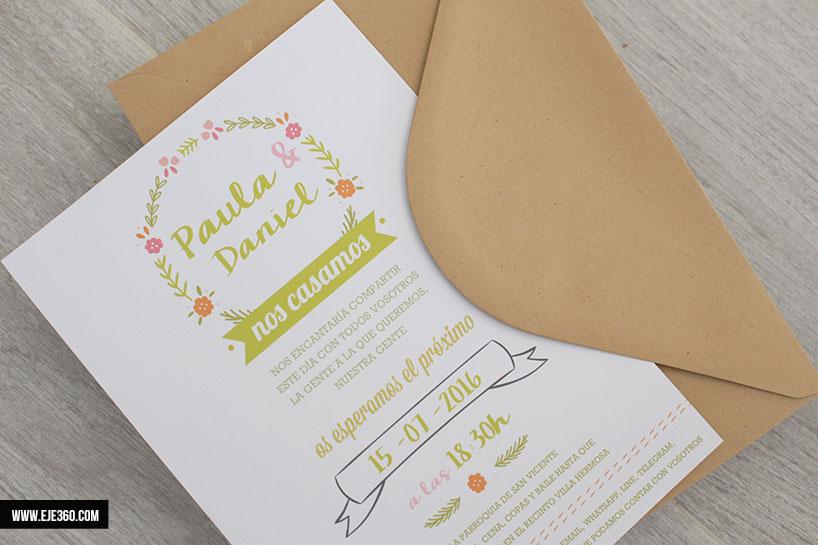 formato invitacion de boda