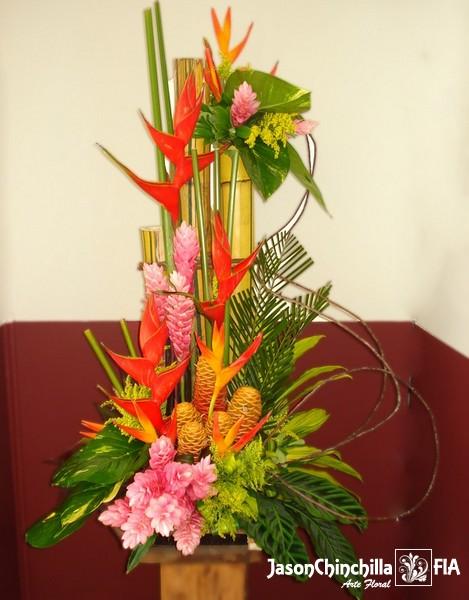 EVE1011  Flores para evento Arreglo tropical para evento