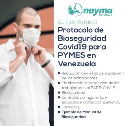 Guía de Estudio – Protocolo de Bioseguridad Covid19 para PYMES en Venezuela