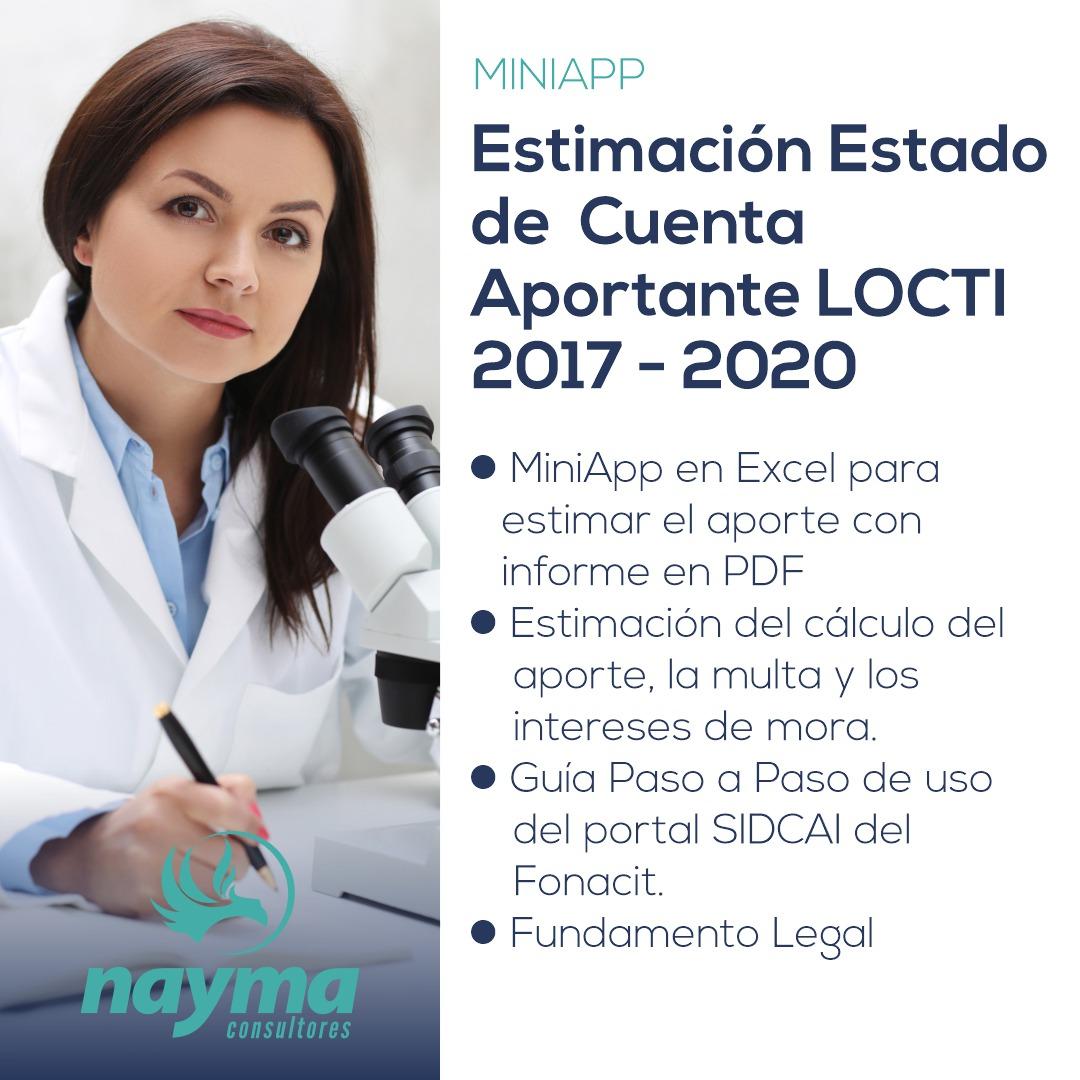 Estimación Estado de Cuenta Aportante LOCTI 2017 - 2021