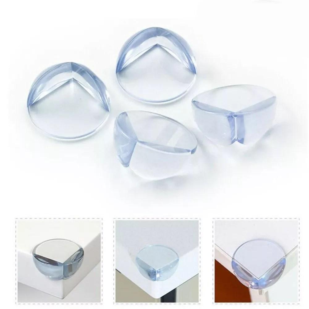 Protector de esquina de silicona de seguridad para mesas protege a niños por colisiones contra las esquinas y bordes de cubiertas - 4 unidades