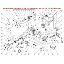 13HP GX390 Ø22,16x106mm CONICO MOTOR GASOLINA 4T/OHV 389