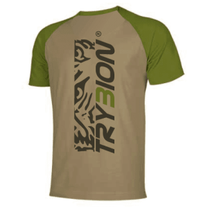 Camiseta Trybion camel kaki parte de atras - Camiseta Trybion camel Kaki