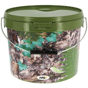 NGT cubo de 5 litros camuflae con asa de metal - NGT Cubo de 5 litros color camuflaje