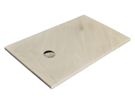 Plato de ducha modelo VENUS de mármol blanco macael