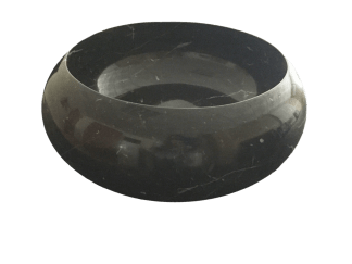 Lavabo de mármol modelo AM31 color negro marquina
