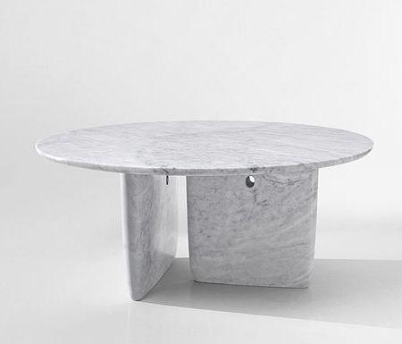 mesa de mármol blanco carrara modelo Bangkok