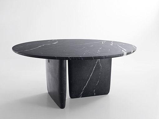 mesa de mármol negro marquina modelo Bangkok