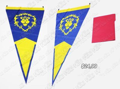 Bandera Videojuegos World of Warcraft Alianza Ecuador Comprar Venden, Bonita Apariencia comodo, practica, Hermoso material de poliester Color amarillo y azul Estado nuevo