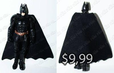 Figura Cómics Batman Ecuador Comprar Venden, Bonita Apariencia, práctica, de buen material: plástico y capa de tela Color: Negro Estado Nuevo