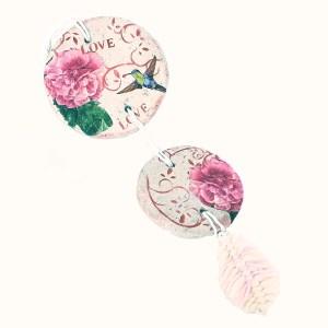 Colgante ppiedra doble rosas