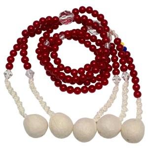 Juzu budista grande de perlas rojas