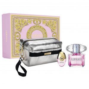 Versace - Set Bright Crystal EDT 90ml + EDT 10ml + Necessaire