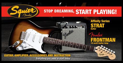 pack guitarra squier stratocaster PK STRAT