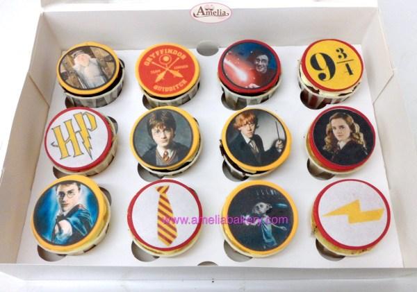 Caja de 12 Cupcakes Harry Potter