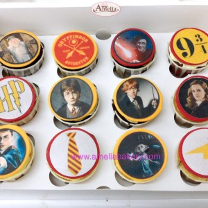 Caja de 12 Cupcakes Harry Potter