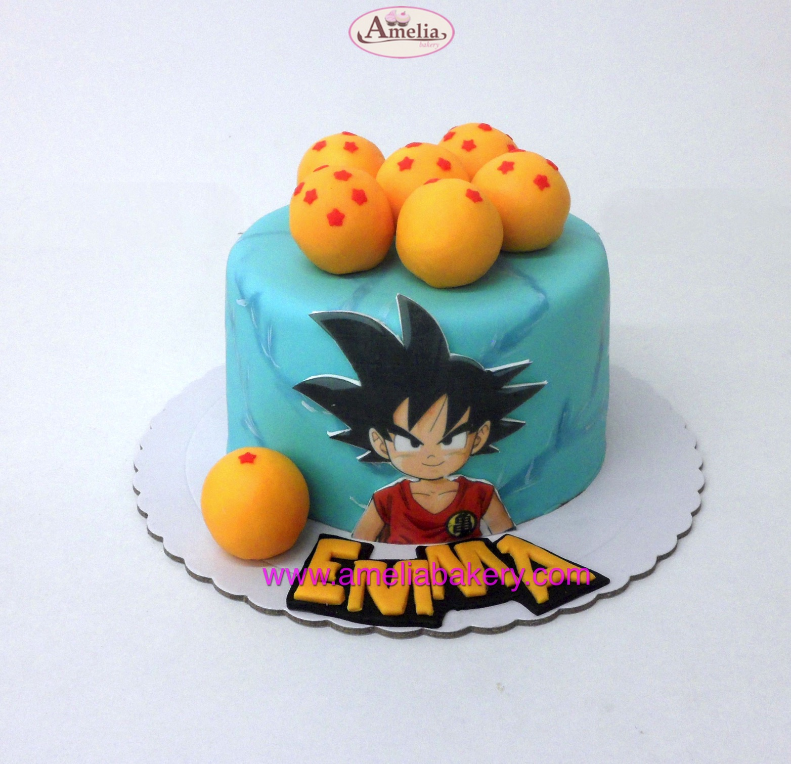 Tarta Fondant Dragon Ball Z Goku