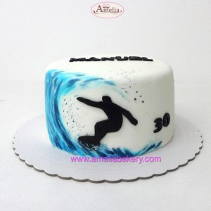 Tarta Fondant Surf / kite surf / wind Surf