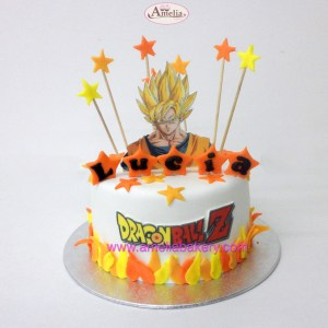 Tarta Fondant Dragon Ball Z Goku