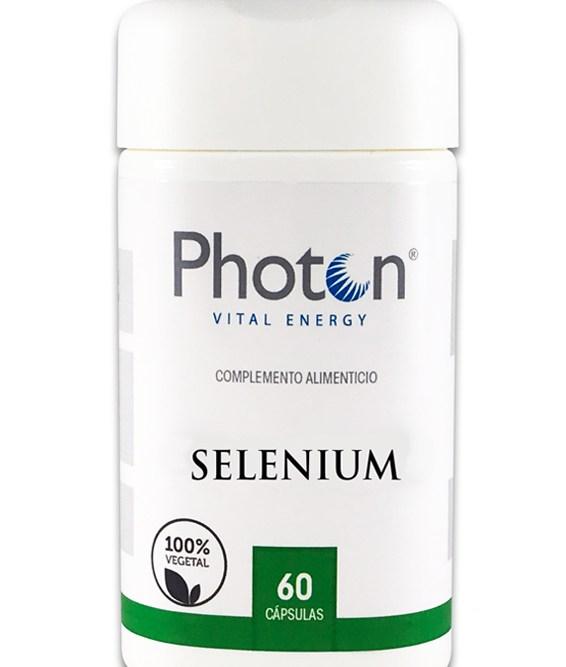 Selenium Photon, cápsulas vegetal de 544,30mg, excelente antioxidante con una poderosa combinación de vitaminas C y E