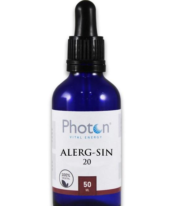 AlergSin Photon gotas para disminuir los efectos alérgicos estacionales.