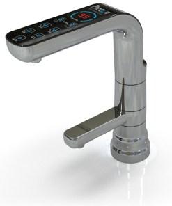 Waterlife Photon Rio Faucet produce agua alcalina, neutra y acida en PH (del 3.0 al 11). utiliza panel de control digital, fácil de instalar.
