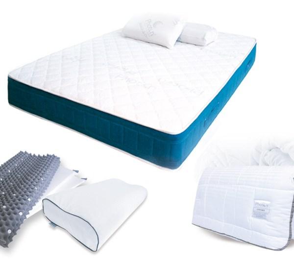 Kit de descanso Photon Basico, colchon edredon y corrector cervical