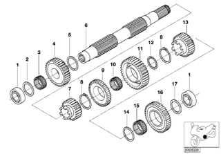 Piñones del eje de salida cambio de marchas BMW K 1200LT