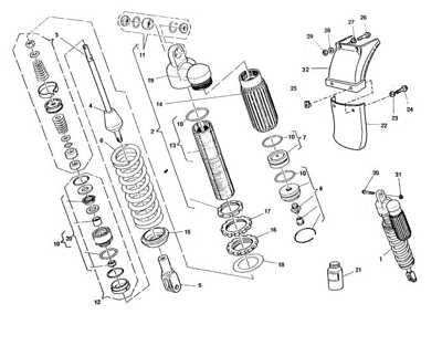 SACHS rear shock absorber SACHS Husqvarna TE610 Y E410