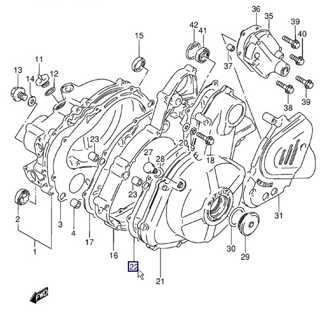 Junta tapa alternador Suzuki DR650R / DR650S