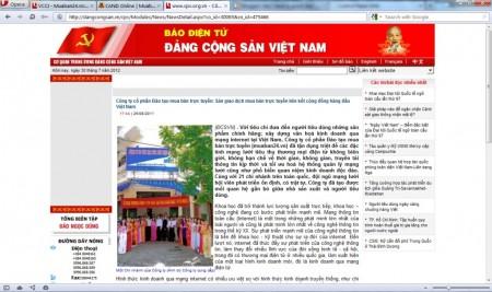 Báo điện tử Đảng cộng sản khen ngợi MuaBan24