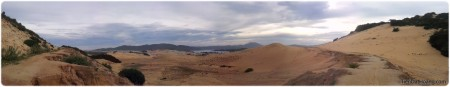 Nhìn lại đồi cát, con đường ra Đầm Môn lần cuối.