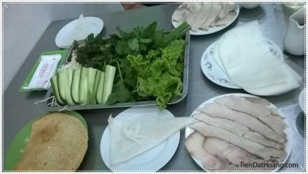 Bánh tráng thịt heo Đà Nẵng.