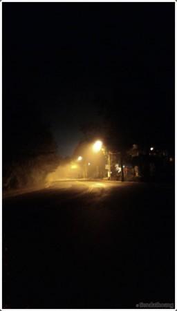 Đêm lạnh buốt ở Đà Lạt.