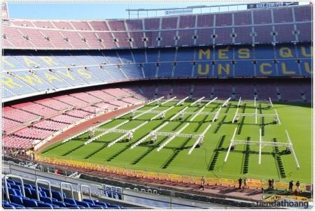 Ngày nắng đẹp trong sân đấu.