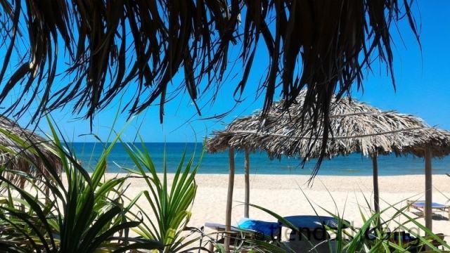 Bãi biển Thuận An ngày nắng chói chang, tại Beach Bar.