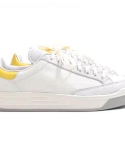 Tenis-Zapatillas-Rod-Laver-Blanco-Dorado-Mujer