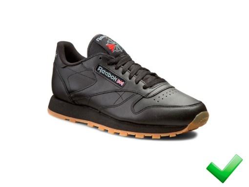 Tenis-Zapatillas-Rbk Classics-Mujer-Negro-Clasicas-suela-marrón-2019