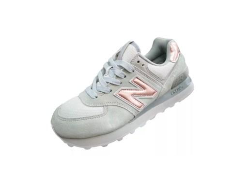 Tenis-Zapatillas-Dama-N Balance-574-mujer-Gris-Rosa