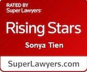 Super Lawyers Badge - Sonya Tien, best atttorney raleigh, best attorney charlotte, best injury attorney raleigh, best injury attorney nyc, best injury attorney charlotte