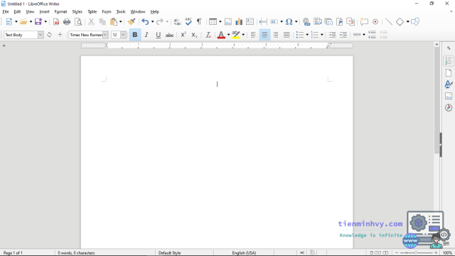 Giao diện Writer của LibreOffice có thể thay thế Office