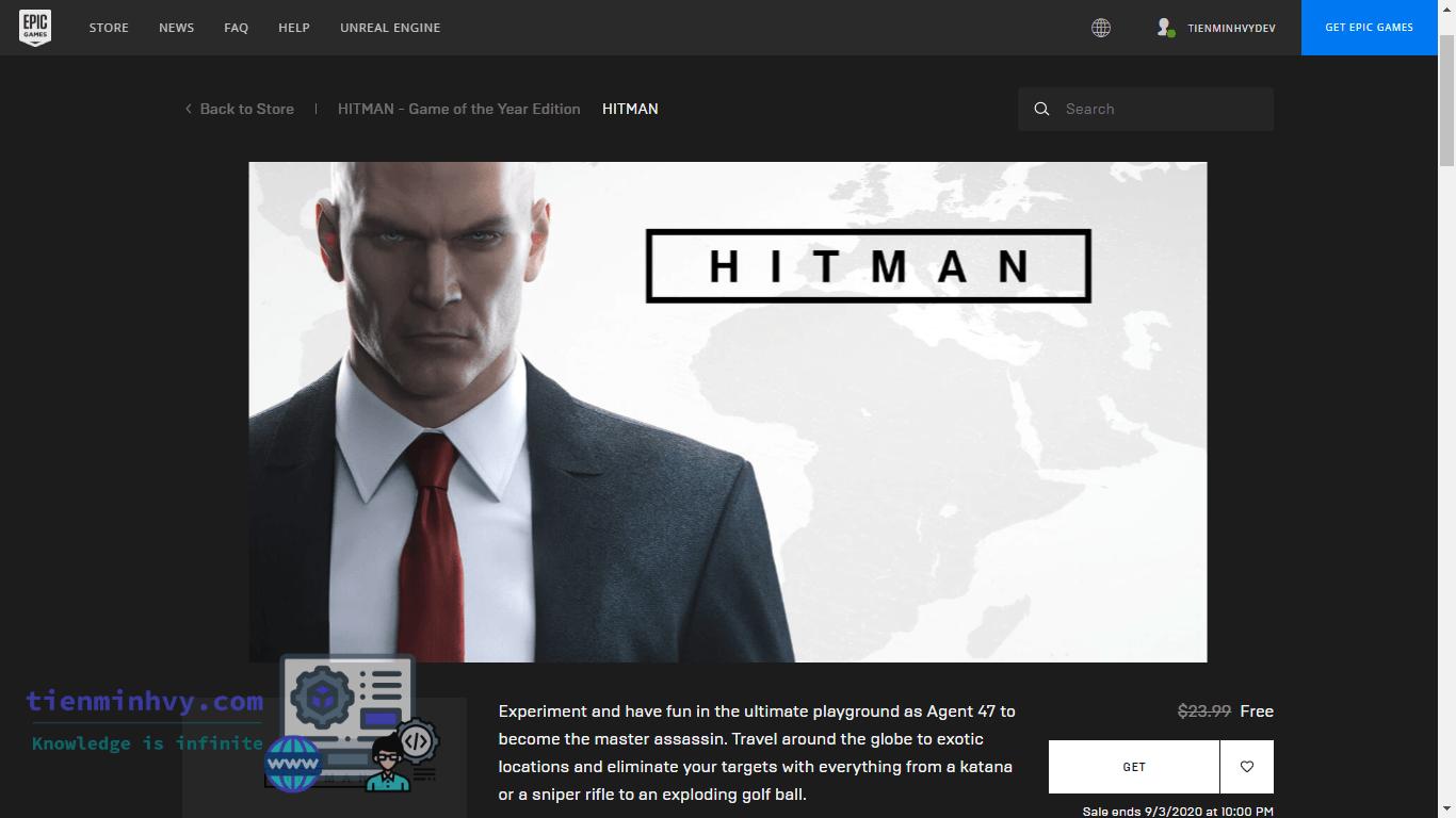 Nhận ngay game Hitman 2016 GOTY miễn phí