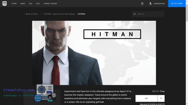 Hitman 2016 GOTY miễn phí