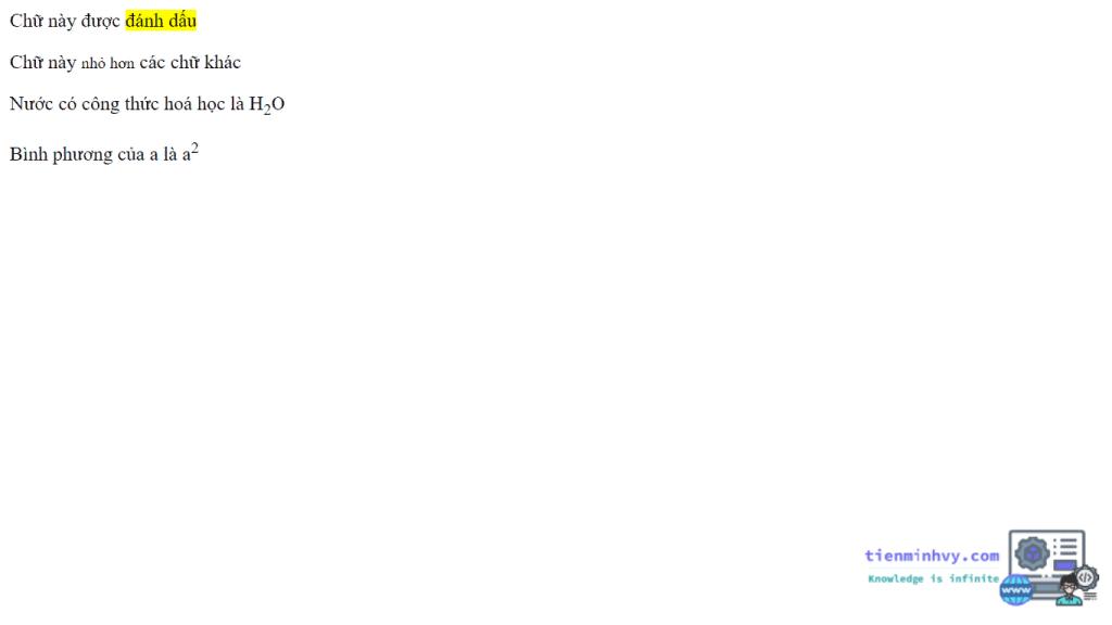 Định dạng văn bản trong HTML5 - thẻ bổ trợ