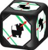De dobbelsteen van Robo, zeldzaam onder de bordspellen