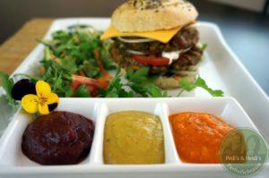 Pink-Ketchup,Hamburger-Senf, fruchtiger Ketchup