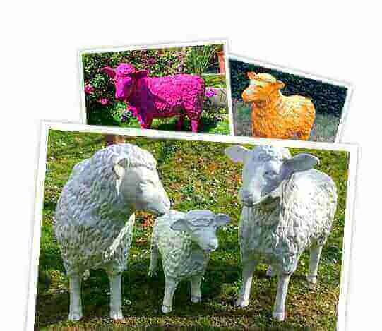 Deko Kunst Schafe individuell