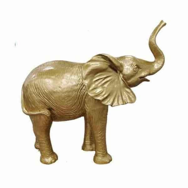 Deko Goldener Elefant