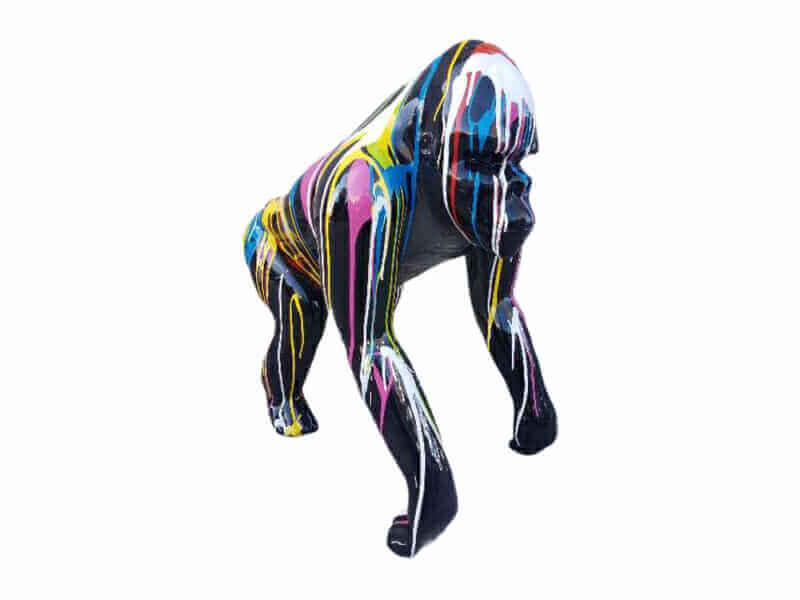 Deko Gorilla Kreativ Design black