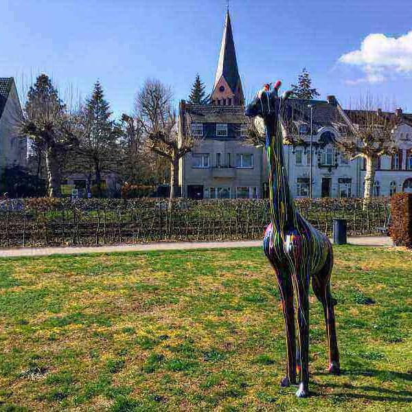 deko giraffe 230 cm kreativ design schwarz